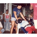 spotting Platz in 1986 (on some reps he wanted the spotter to apply additional  resistance)